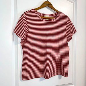 Forever 21: Brand New Red + White Striped Crop Top